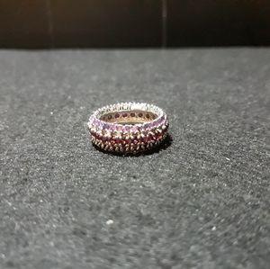 Rhodolite Garnet and Amethyst Ring N10